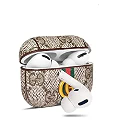 【AirPods Pro case】Compatible with apple airpod pro case 【Luxury Classic Cover Design】made of premium genuine leather. Each piece of leather has its own veins and pores, so the texture is unique. 【Support Wireless Charging】 compatible with airpods pro...
