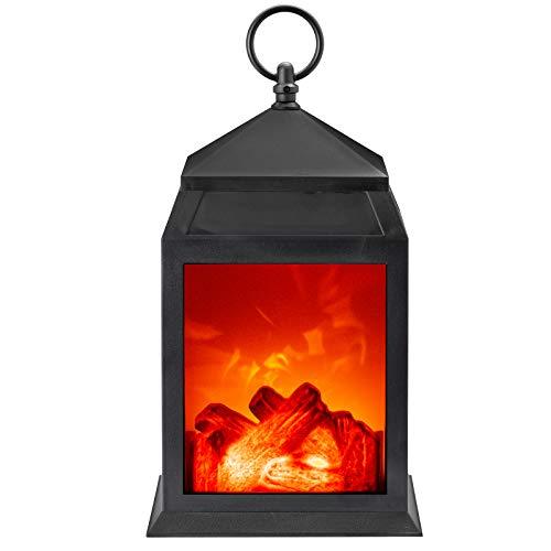GloBrite Fireplace Lamp Led Flame Effect Log Fire Place Ornaments Home Decor (Medium)