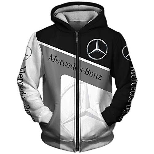 N/A-SHAOFA Hoodies,Jacken,T-Shirt Strickjacke Dünn 3D Mercedes-Benz Voll Drucken Pullover Männer&Damen Beiläufig Polyester Sweatshirt Klassisch/B/L