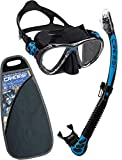 Cressi WDS337520 Big Eyes Evolution & Alpha Ultra Dry Professional Combo, Set per Immersioni e Snorkelling Unisex - Adulto, Blu/Nero