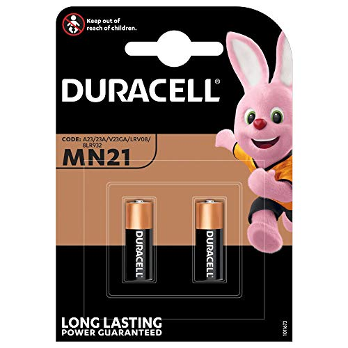 Card of 2 Duracell MN21 Security A23 Alkaline Batteries Inreference to A12 K23A LRV08
