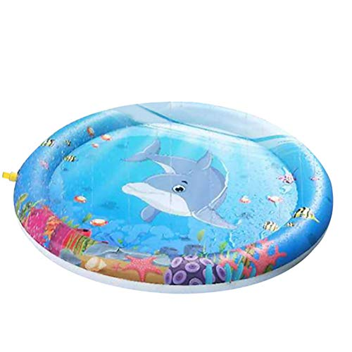 Schimer Splash Pad waterspeelgoed speelmat Outdoor zomer tuin Splash speelmat voor baby party sprinkler en splash Play mat plezier voor kinderen 2 3 4 5 jongens en meisjes blauw