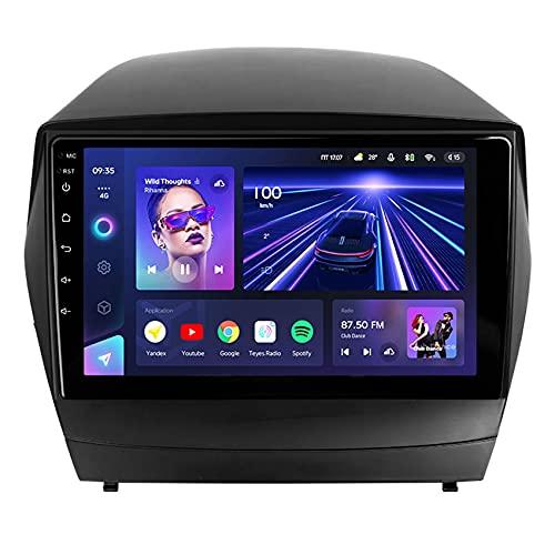 Amimilili CC3 Estéreo De Radio De Coche Android 10 para Hyundai Tucson 2 LM IX35 2009-2015 Navegación GPS DSP/Carplay/USB/Bluetooth/FM//Control del Volante/Cámara Trasera,AB,8core WiFi+4G: 6+1