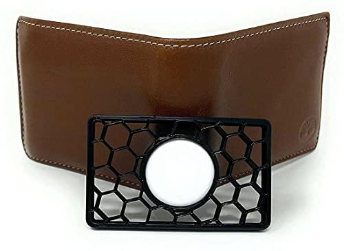 Tagcard Flex - Funda tipo cartera para Apple Air-Tag, impresión 3D Locator Wallet, funda protectora para billetera, cartera, clutch o Wristlet, Negro (Negro) - xqkj-MNIVJT