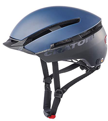 Cratoni C-Loom Allround Fahrradhelm E-Bike Helm Pedelec (blau-schwarz matt, S/M (53-58 cm))