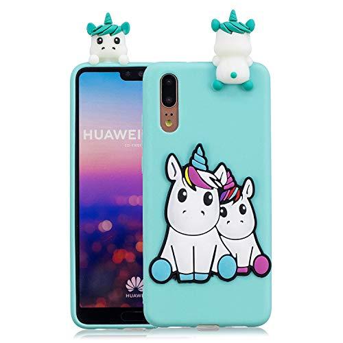 Huphant Compatible for Huawei P20 Pro hülle, Huawei P20 Pro hülle Silikon, Huawei P20 Pro Weiche Silikon TPU Bumper Case Pineapple,Ultra Protective Schutzhülle für Apple Huawei P20 Pro -Einhorn