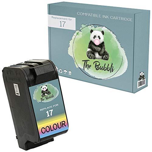 The Bubbli Original | 17 Remanufacturado Cartucho de Tinta Compatible para HP Deskjet 816c 825c 825cvr 840c 841c 842c 843c 845c 845cvr (Color)