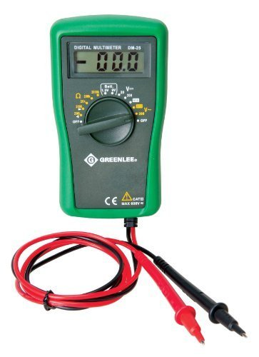 Greenlee DM-25 CATIII 600V Manual Ranging Digital Multimeter by Greenlee