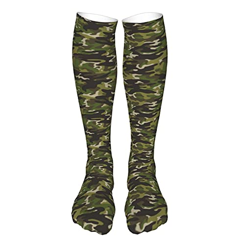 Unisex Athletic Socks Camouflage () Breathable Running Tab Socks with Cushion Sole