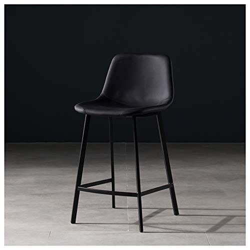 65CM hoge stoel, smeedijzer, barstoel, modern, eenvoudig, barkruk, mode, bar, hoog been, achterstoel, enkel, huis, hoge kruk, bar stoel, bar stoel Zwart