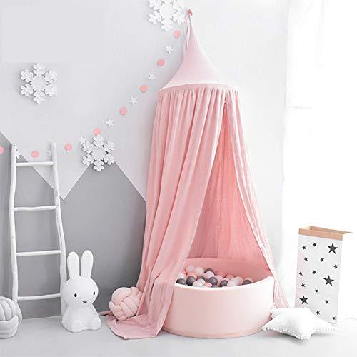 Tyhbelle Baby Baldachin Betthimmel Kinder Babys Bett Baumwolle Hängende Moskiton für Schlafzimmer Ankleidezimmer Spiel Lesen Zeit Höhe 230 cm Saumlänge 270cm