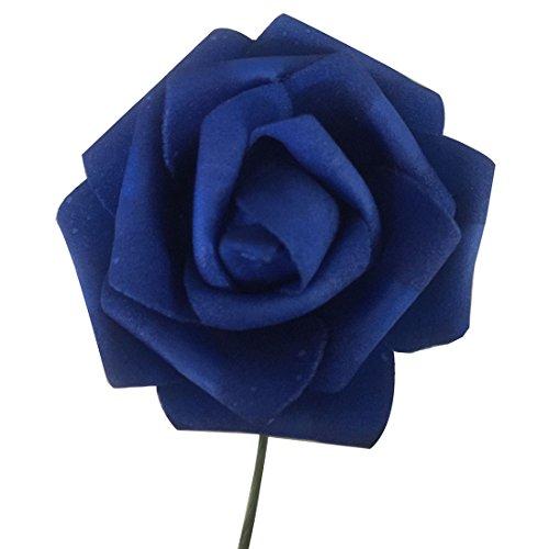 ZENUTA 50 Piezas Ramo de Rosas Artificiales de Seda Ramo Romántico para Boda Flores Ramo de Novia