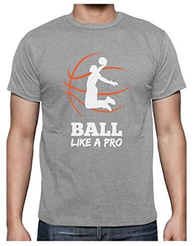 Green Turtle Camiseta para Hombre- Baloncesto Regalos Originales Idea Regalo Jugador Baloncesto - Basketball Fans Large Gris