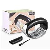 Spremiaglio in acciaio inox con pelapaglio, in silicone e spazzola per la pulizia (vestito a tre pezzi)-uno dei migliori gadget da cucina