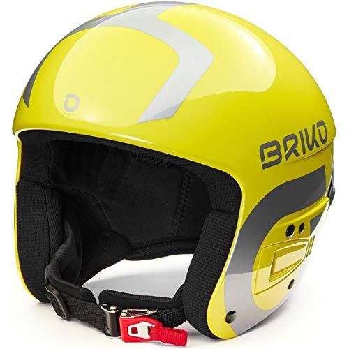 Briko Vulcano Fis 6.8 Multi Impact Casco de esquí Snow, Adultos Unisex, Shiny Yellow-Silver, 56 cm