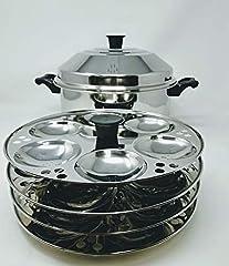 4 Racks – Makes 24 Idlis Multi-purpose cook n serve set Cooks Idlis Dhoklas Patras & various other dishes Full stainless steel body Idli-making has never been easier Pot Type Handles