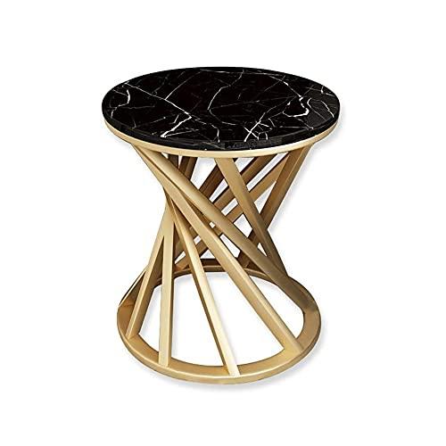 XLEVE Nordic Sofá mármol Laterales de Esquina Mesa de Esquina Mesa de café Luz Hierro Metal Mesilla de Noche de Almacenamiento de Estar