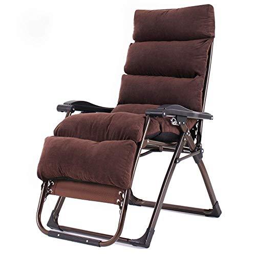 Lounge Chair Sillas de oscilación Silla Silla Cero Gravedad del jardín de Brown Tumbona reclinable alisador de jardín Resistente a la Intemperie Textoline Plegable Multi posición Ajustable