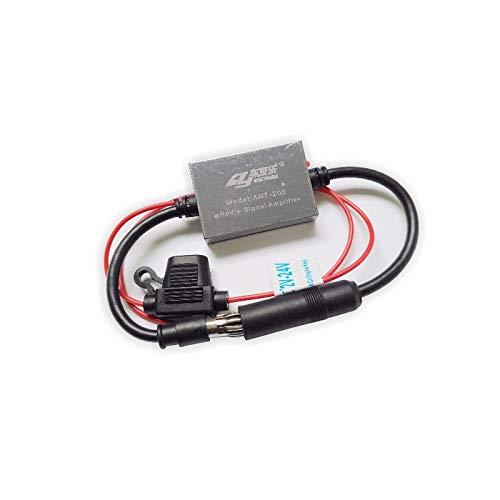 ZERTRAN Universal Auto Radio de Coche Antena FM Amplificador de señal Anti-interferencia para vehículo RV 12-24V Mejora de Antena de señal