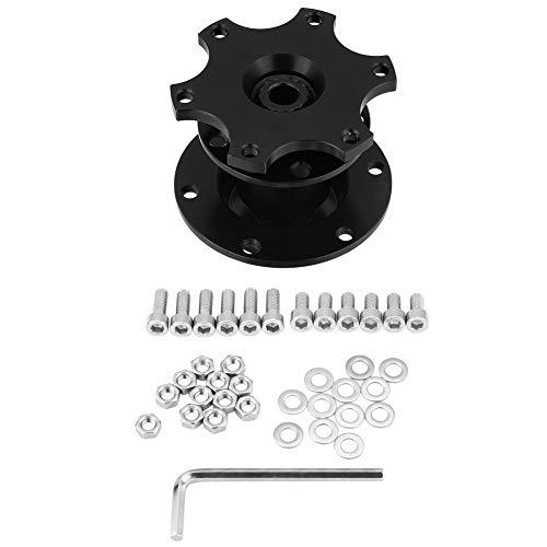 Lenkradnaben Adapter, Universal Auto Lenkrad Schnellspanner Naben Adapter Snap Off Boss Kit für Rennwagen(Black)
