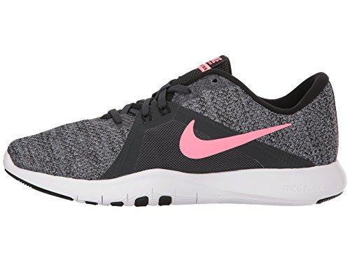 Nike Women's Flex Trainier 8 Training Shoe (8.5 B(M) US, Anthracite/Sunset Pulse/Black)
