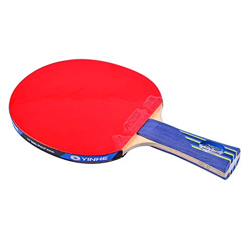 XGGYO 8 Estrellas Profesional Raquetas de Tenis de Mesa, Ofensivo Raquetas de Ping Pong, Adecuado para para Entrenadores, Aficionados, Expertos, Principiante/Como se muestra/Mango corto