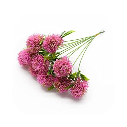 Fake Flower - Flores artificiales, 5 piezas, plástico, productos para la decoración de la casa, decoración de la novia, color rojo