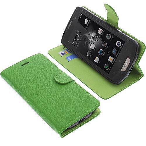 foto-kontor Tasche für Blackview BV8000 Pro Book Style grün Schutz Hülle Buch