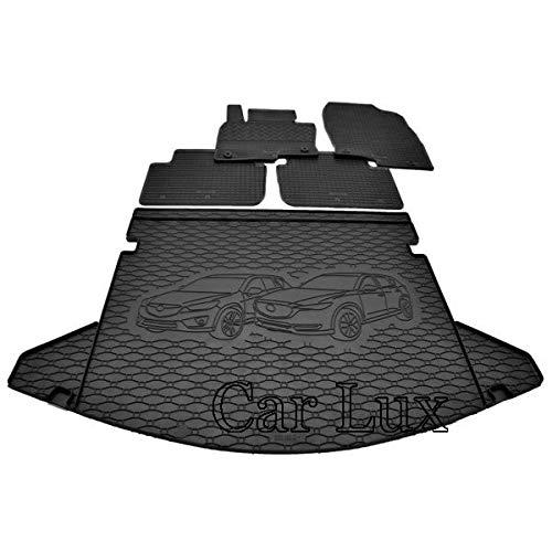 Car Lux AR95658 - Kit Alfombras Alfombrillas de goma a medida y alfombra maletero para Mazda CX-5 CX5 desde 2017-