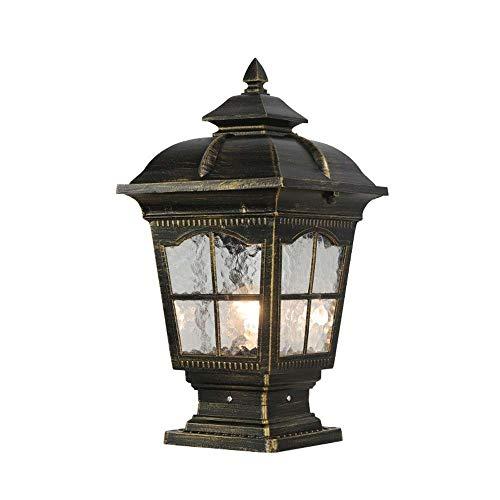 Suave, no deslumbrante Column headlight Europeo al aire retro Valla impermeable poste de la lámpara, la lámpara del hogar Puerta, Pilar de aluminio cabeza de la lámpara, la lámpara del paisaje Manor,