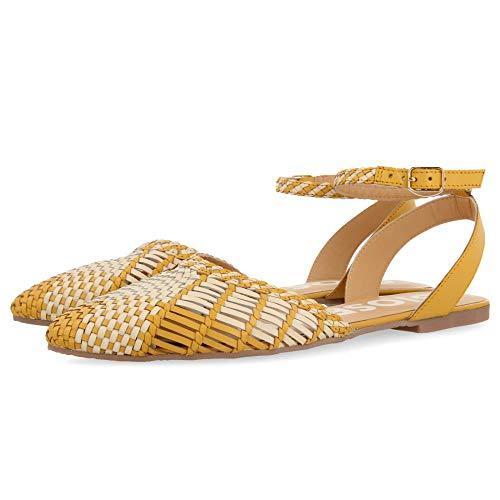 Gioseppo Nunn, Zapatos Tipo Ballet Mujer, Mostaza, 38 EU
