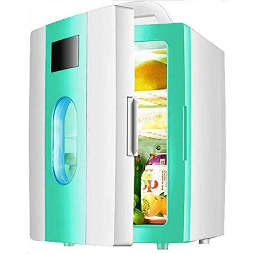 FEE-ZC Draagbare koelkast, multifunctioneel, 12 V, 240 V, voor auto en thuis, 10 liter, met ramen, reizen, camping, rust elektrisch (kleur: A)