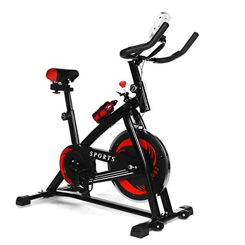TENGGO LCD Bicicleta estática Aerobic Deporte Ciclismo Bicicleta Fija Ajuste Ultra silencioso Gym Equipo Interior Aptitud