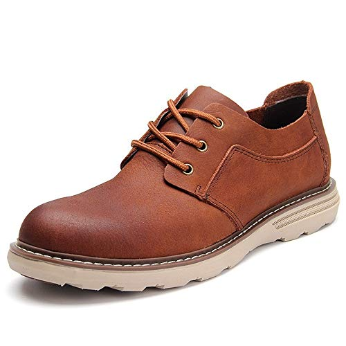 WENQU Comfortabele Oxfords voor mannen Klassieke werkschoenen Lace Up Business Casual Echt leer Lage Top Platte Vegan Anti-Skid Condoom buitenzool