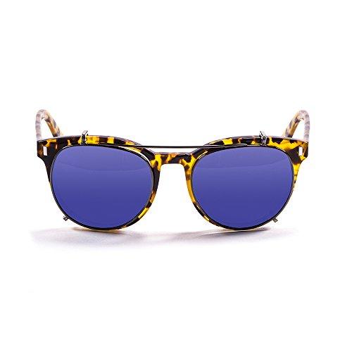 Ocean Sunglasses - Mr.Franklin - lunettes de soleil polarisées - Monture : Marron - Verres : Revo Bleu (71001.2)