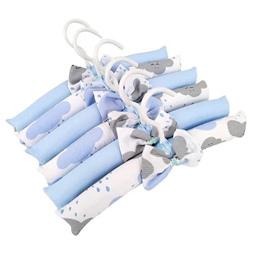 Jogo de Cabides Infantil Bebê Menino Nuvem Azul Bebê 6 Peças