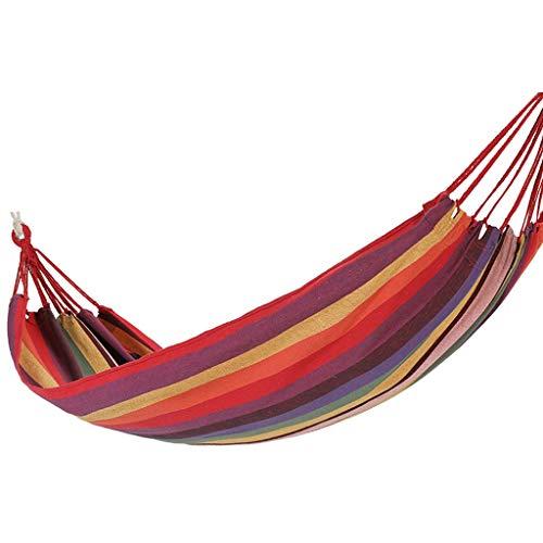 WFS Camping Hamaca Hamaca Cradle Hammock Swing Bed Single Camping Hammocks Grande Ancho para El Patio Trasero De La Playa De Viaje cámping (Color : Red)