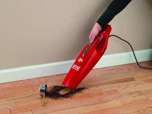 Dirt Devil Simpli-Stik Vacuum Cleaner, 3-in-1 Hand and Stick Vac, Small, Lightweight and Bagless, Red, SD20000RED