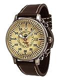 Retro Uhr mit Automatik Werk 24h Anzeige Spez. Feder-Kronensicherung Modell A1382