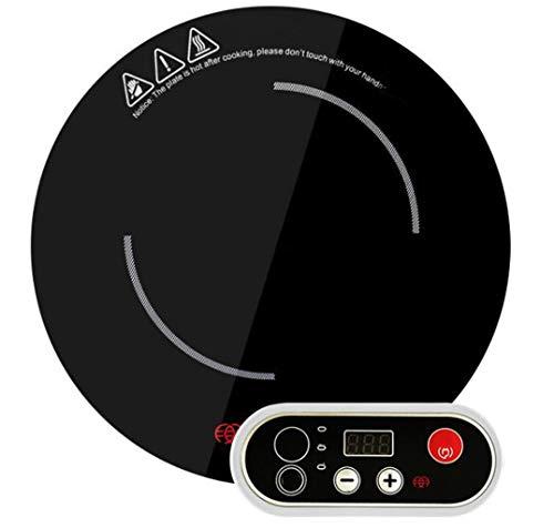 Cuisinière à Induction Portable Comptoir Brûleur 1200w Intégré Commercial Rond Hot Pot Restaurant Induction Cooker Noir