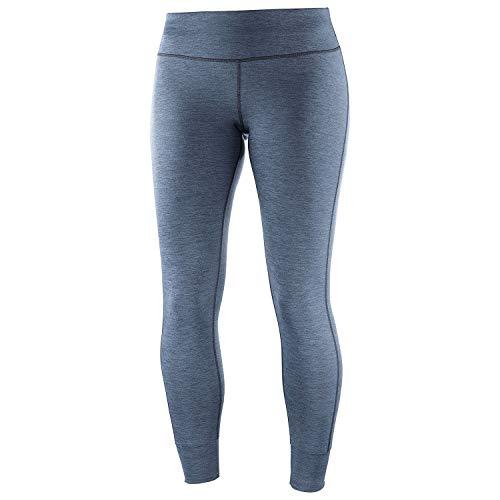 Salomon, Collant de Sport, Pour Femme, COMET TECH LEG, Polyester/Elasthanne, Bleu gris (Flint Stone), Taille : S, LC1119000