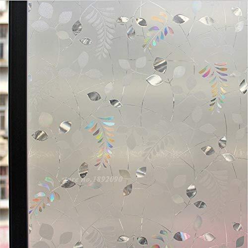 KUNHAN Raamfolie Raamsticker 90 * 100Cm/Lot 3D Laser Frosted Decoratieve Glasfolie Verwijderbare Privacy Stickers Geen Lijm Pvc