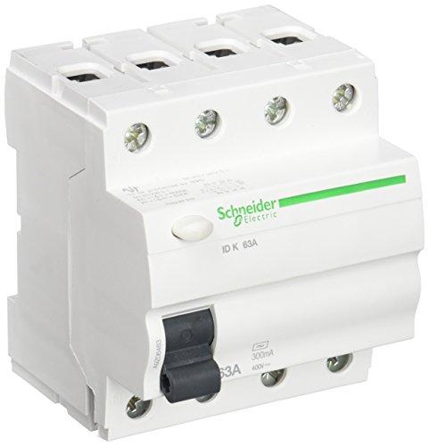 Schneider Electric A9Z06463 Interruptor Diferencial, 4P, 63A, 300Ma, Clase Ac