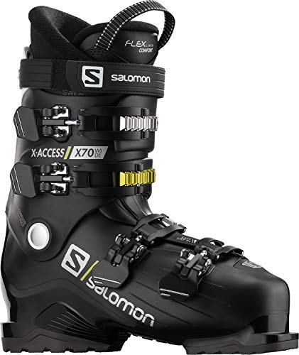 Salomon X Access X70 Wide Mens Ski Boots Black/Acid Green Sz 12/12.5