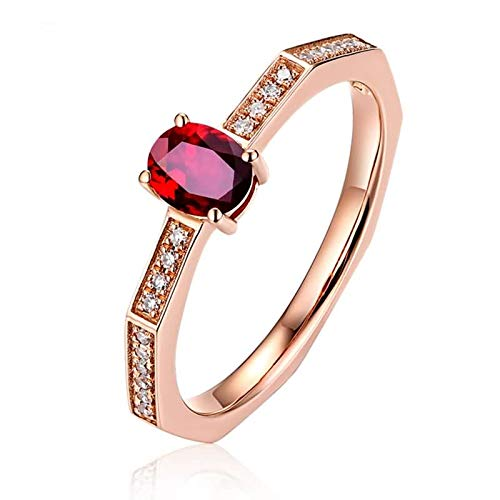 Aimsie Women's ring, wedding ring, oval ruby engagement ring, white gold, 18 carat (750) rose gold, ladies rings, real gold, gold ring, yellow gold, rose gold. Rose Gold