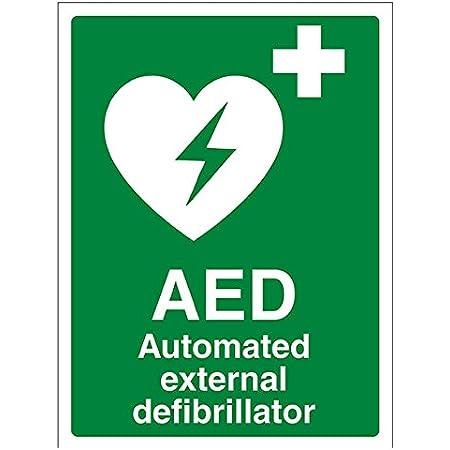 Indigos Ug Aufkleber Sicherheit Warnung Emergency Safety Zeichens A5 Aed Automated External Defibrillator 150mm X 200mm Sticker Für Büro Firma Schule Hotel Werkschutz Baumarkt