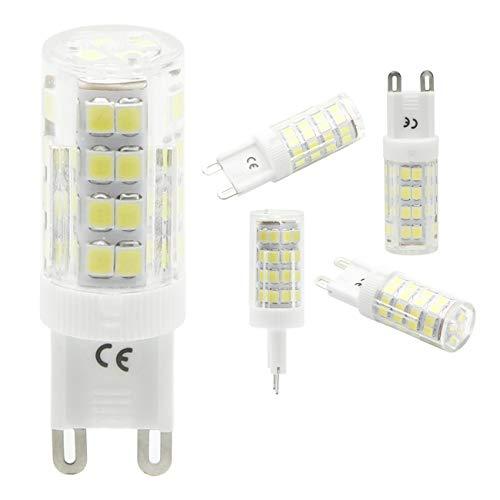 Tech Art Lampadine a LED G9,4W (equivalente alogeno 40W), G9 Bi Pin Base 400LM, G9 Bianco freddo 6000K per Illuminazione domestica (confezione da 2)
