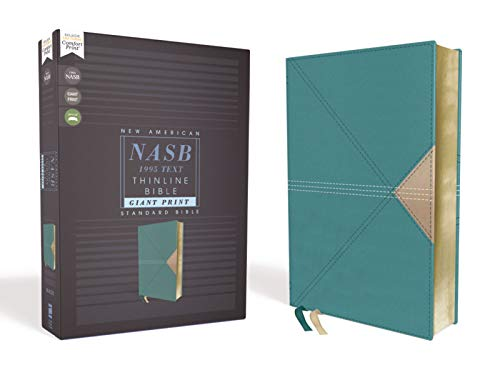 Compare Textbook Prices for NASB, Thinline Bible, Giant Print, Leathersoft, Teal, Red Letter, 1995 Text, Comfort Print Large type / Large print Edition ISBN 0025986451097 by Zondervan