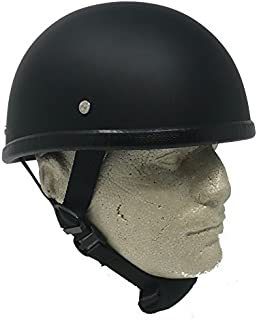 "Novelty Eagle Flat Black Chopper Biker Motorcycle Helmet Low Profile (2xl/XXL 24 1/2"" - 25"")"