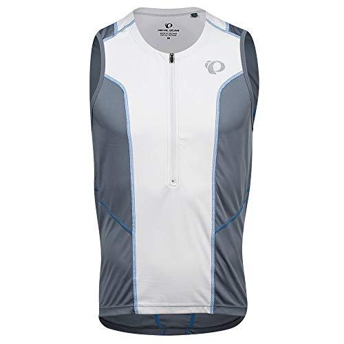 PEARL IZUMI Men's Select Pursuit Tri Sleeveless Jersey, Turbulence/Fog/Lapis, XL